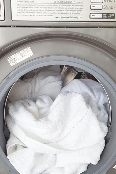 Oprani ručnici u praonici